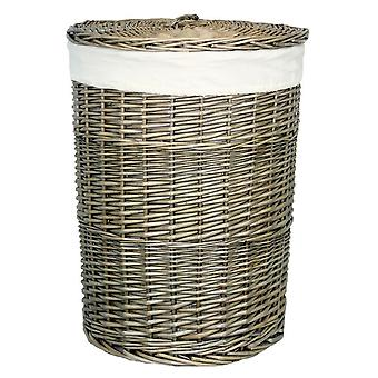 Small Antique Wash Round Laundry Basket
