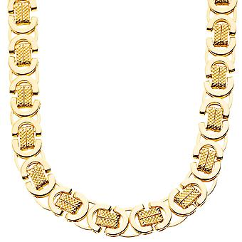 Iced out solid hip hop chain - BYZANTINE 10mm gold