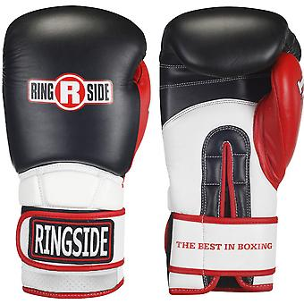 Ringside Pro Style IMF Tech Training Boxing Gloves - Black/White/Red