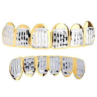 Gold Grillz - one size fits all - Diamond cut ONE - SET