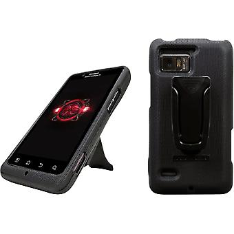 Body Glove Motorola Bionic Flex Snap - On Cell Phone Case with Clipstand - Black