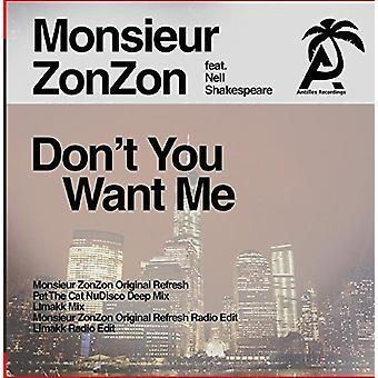 Monsieur Zonzon - Don't You Want Me [CD] USA import