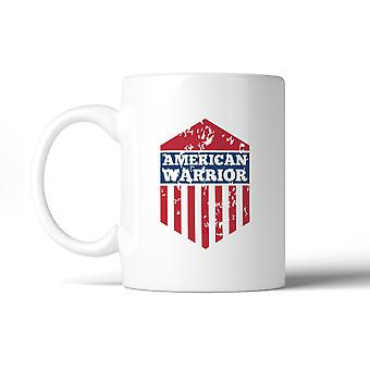 Guerrero americano U.S. bandera taza taza de regalo patriótico lavavajillas