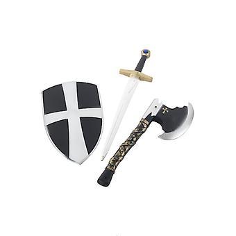 Cavaliere di bambino costume cavaliere armi costume set 3 pezzi