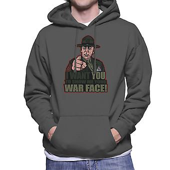 War Face Gunnery Sgt. Hartman Full Metal Jacket Men's Hooded Sweatshirt