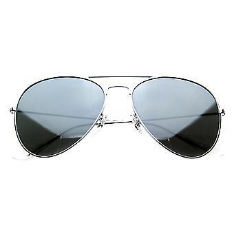 Spejlet flyvere sølv Metal Aviator solbriller