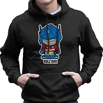 Lil Optimus Prime rulla ut transformatorer Mäns Hooded Sweatshirt