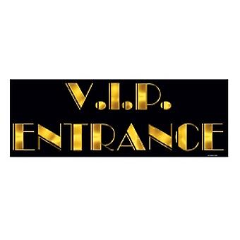 Awards Night 'V.I.P ENTRANCE' Sign printed 2 sides (Quantity 1)