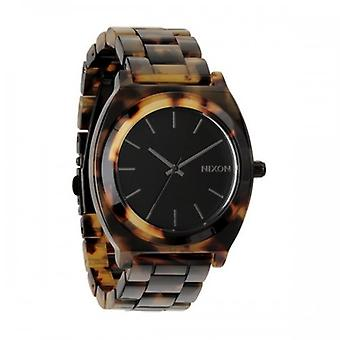 Nixon Tortoise The Time Teller Acetate Watch - Black