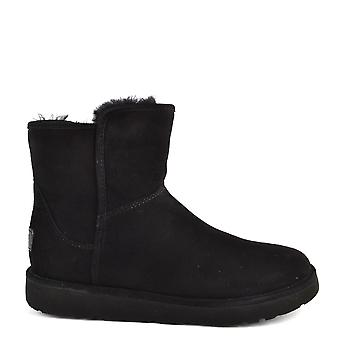 Ugg Abree Mini Lux Classic Black Suede Boot