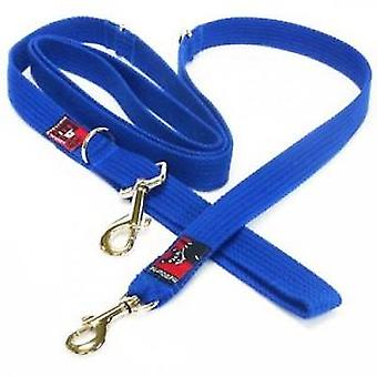 Black Dog Double Ended Lead (Reg) Blue