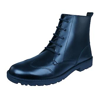 Kickers Lachly Hi Womens Leather Boots - Black