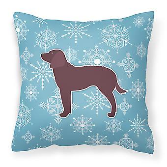 Fiocco di neve inverno American Water Spaniel tessuto cuscino decorativo