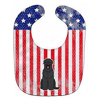 Carolines Treasures  BB3021BIB Patriotic USA Black Russian Terrier Baby Bib