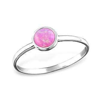 Round - 925 Sterling Silver Jewelled Rings - W31415X