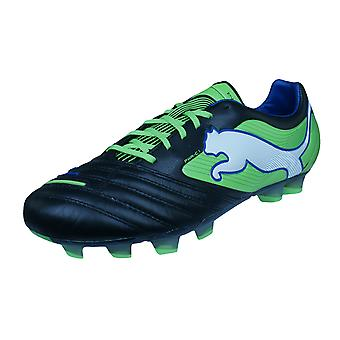 Puma PowerCat 1 FG Mens Leather Football Boots / Cleats - Black