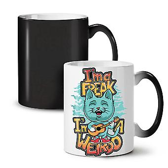 Ima Freak Weirdo Cute NEW Black Colour Changing Tea Coffee Ceramic Mug 11 oz | Wellcoda