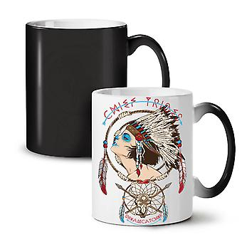 Chief Girl Art Fashion NEW Black Colour Changing Tea Coffee Ceramic Mug 11 oz | Wellcoda