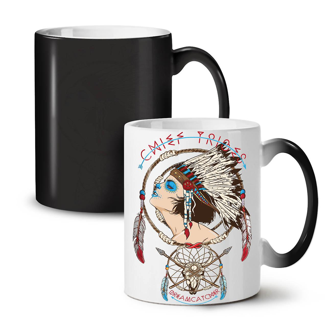 Chief Girl Art Fashion NEW Black Colour Changing Tea Coffee Ceramic Mug 11 oz | Wellcoda