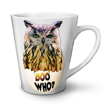 Scary Owl Who Cool NEW White Tea Coffee Ceramic Latte Mug 17 oz | Wellcoda