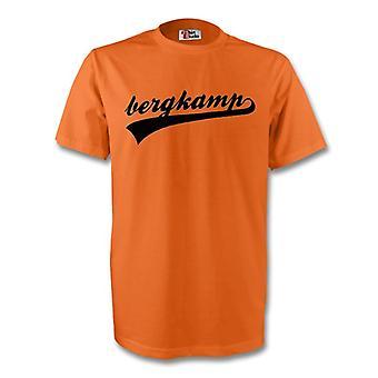 Dennis Bergkamp Holland handtekening Tee (oranje)