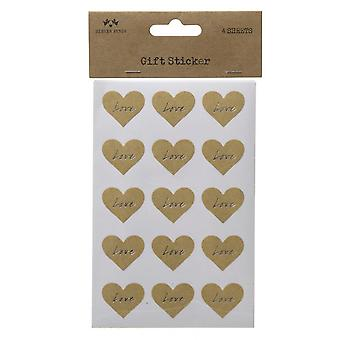 Heaven Sends 4 Sheet Love Heart Sticker Set