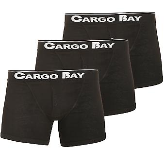 Cargo Bay Mens Button Fly Boxers (Pack Of 3)