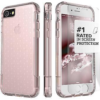 SaharaCase iPhone 8 y 7 caso claro oro rosa, Inspire protección Kit paquete con ZeroDamage® vidrio templado