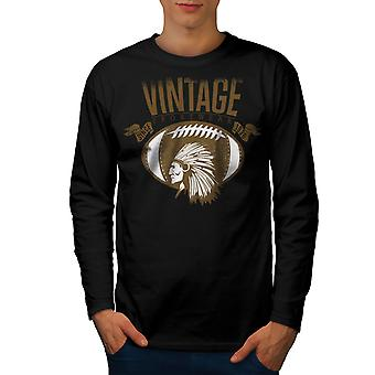 America Football Team Männer BlackLong Sleeve T-shirt | Wellcoda
