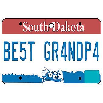 South Dakota - Best Grandpa License Plate Car Air Freshener