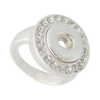 Silver Plated Ring For Mini Click Buttons Kb0481-s