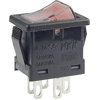 Toggle switch 250 V AC 6 A 2 x Off/On NKK Switches
