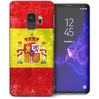 Samsung Galaxy S9 Retro Spain Flag TPU Gel Case – Green
