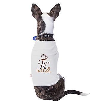الحب القطن آتية قميص الحيوانات الأليفة الكلاب الصغيرة البيضاء الملابس