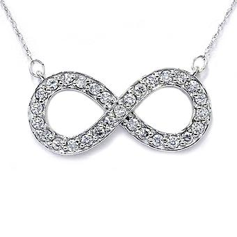 3/4ct Diamond Infinity Symbol Pendant 14K White Gold