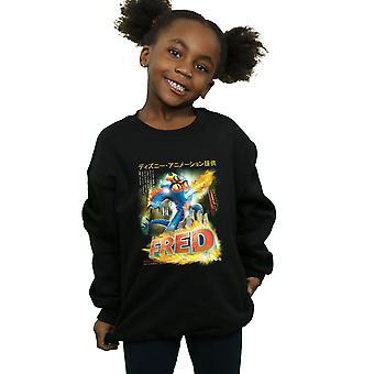 Disney Girls Big Hero 6 Fred Manga Poster Sweatshirt