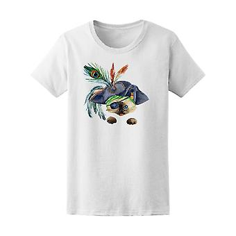 Funny Pirate Cat Tee Women's -Image by Shutterstock