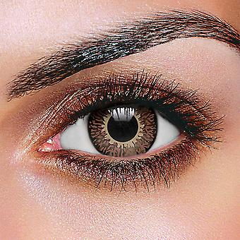 Chocolate Brown 3 Tone Contact Lenses (Pair)