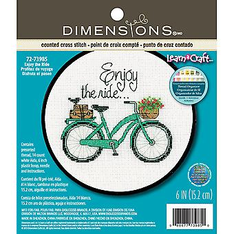 Learn-A-Craft Enjoy The Ride Counted Cross Stitch Kit-6
