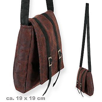 Bag brown leather look shoulder bag belt bag