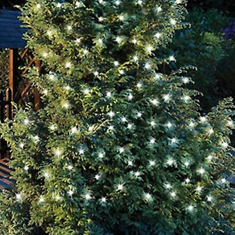 Sparkle - 50 Led Solar Outdoor Party String Christmas Fairy Lights - White