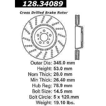 Centric 128.34089 Front Brake Rotor