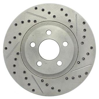 StopTech 227.63052L Select Sport Drilled and Slotted Brake Rotor; Front Left