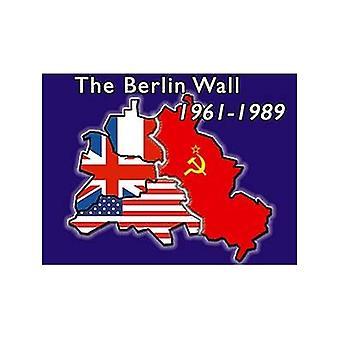 Berlijnse muur 61-89 stalen Fridge Magnet