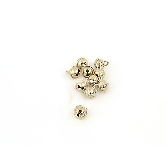 SALE -  100 Silver 15mm Cat Bell Style Jingle Bells for Crafts