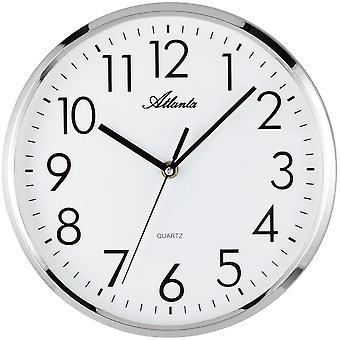 Настенные часы настенные часы кварца высокого качества ABS жилья серебро ползучей второй