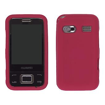 Wireless Solution Silicone Gel Case for Huawei M750 - Red