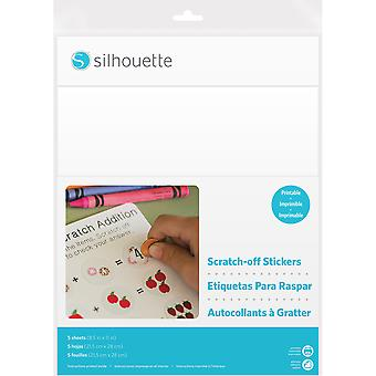 Silhouette Printable Scratch-Off Sticker Sheets 8.5