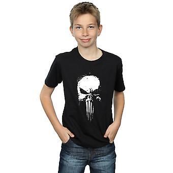 Marvel Boys Punisher Spray Skull T-Shirt