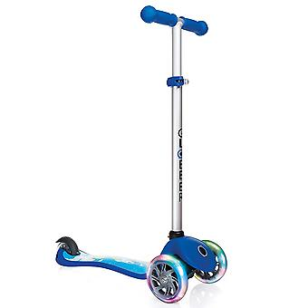 Globber Primo Fantasy Lights 3 Wheel Scooter Rocket Navy Blue